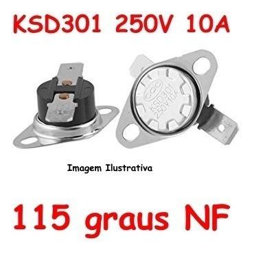 Termostato Ksd301 115 Graus Normal Fechado - Nf Nc