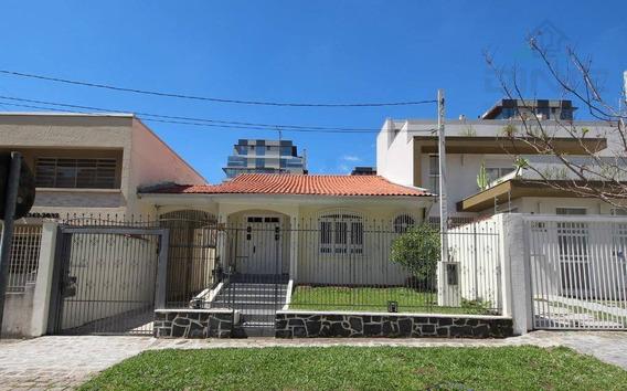 Casa Comercial Para Locação, Água Verde, Curitiba Pr. - Ca0035