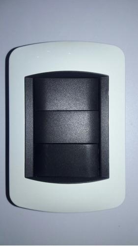 Interruptor Switch Eléctrico Doble, 3 Way, Blanco, 120-250v