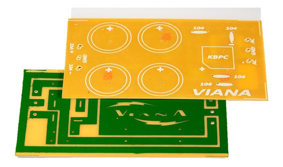 Placa Para Montar Fonte Simétrica Para Amplificador