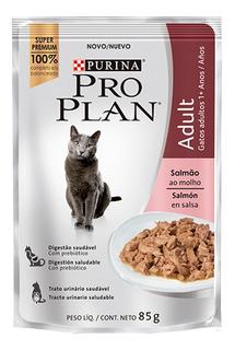 Pouch Pro Plan Wet Cat Adult Salmon X 85 Grs