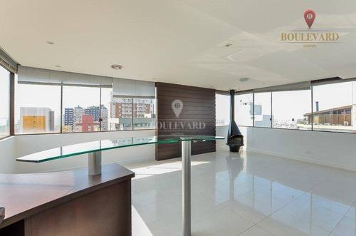 Imagem 1 de 30 de Cobertura Duplex Com Vista Panorâmica - Ao Lado Shopping Curitiba - No Rebouças - Co0022