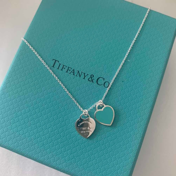 Colar Tiffany & Co Mini Coração Prata 925 . Envio Imediato!
