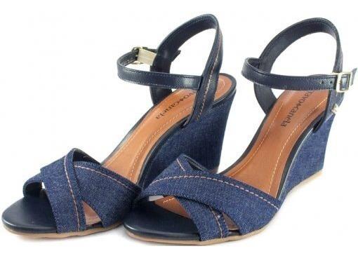 Sandália Cravo E Canela Feminina Jeans 158006