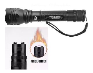 Lanterna Jy-8870 Cree T6 C/ Zoom E Isqueiro Eletrônico