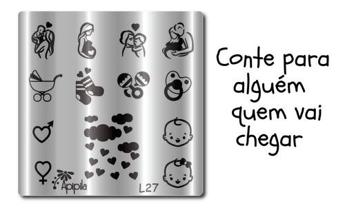 Placa De Carimbo De Unhas  Apipila L27