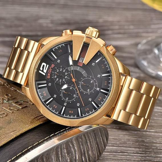 Relógio Skone Masculino Original Luxo Funcional