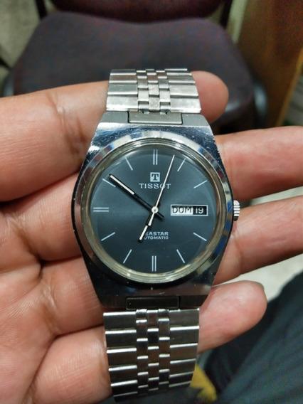 Reloj Tissot Carátula Negra Fechador A Las Tres Automático