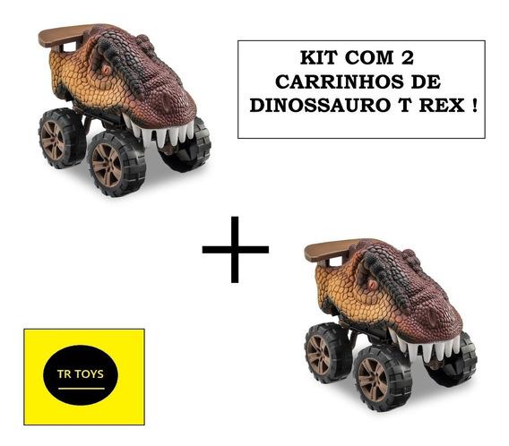 2 Carros Dinossauro T Rex Animals Off Road Usual Brinquedos