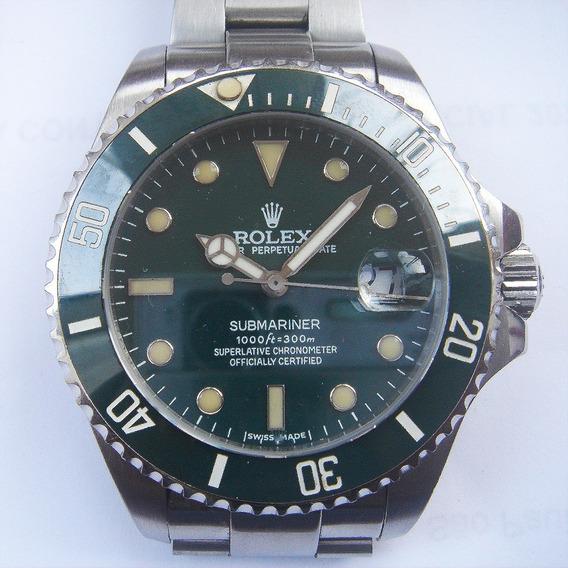 Relogio Masculino Submariner Verde Aço Rolex A A A