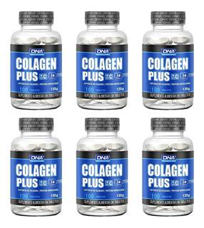 Colagen Plus - 100 Tabletes De 1000mg - Kit C/6 Unids - Dna