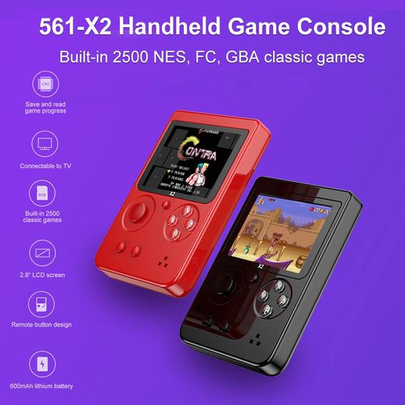 561-x2 Nostálgico Handheld Game Console Embutido 2500 Nes Fc