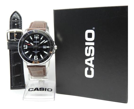 Lançamento Relógio Casio Mtp-vd01l-1bvudf + 1 Pulseira Extra