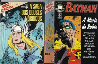Lote C/ 03 Gibis: Marvel Esp Nº03-04 Thor Dc Esp. Nº01 Robin