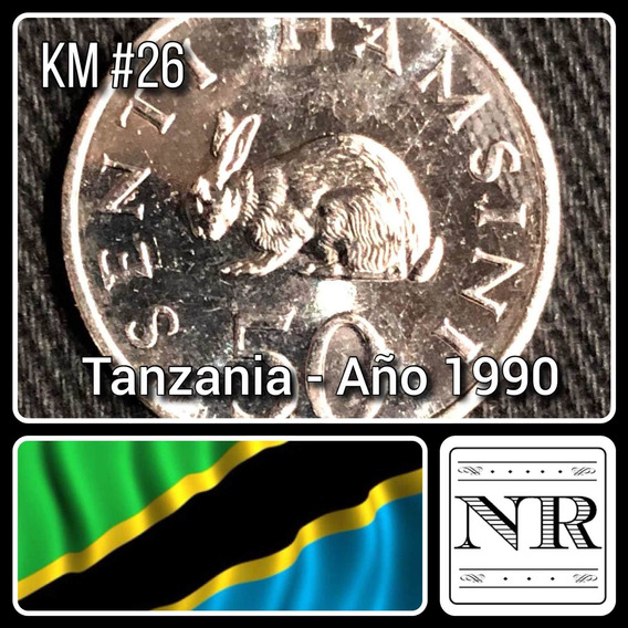 Tanzania - 50 Senti - Año 1990 - Km #26 - Liebre