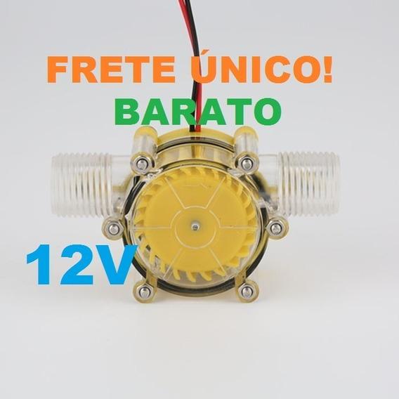 Mini Gerador Hidrelétrico 12v 10w Acrílico Transparente