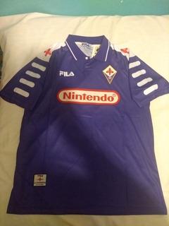 Jersey Fiorentina Nintendo Fila 1997 Manga Corta Reedición
