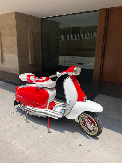 Lambretta Rojo Y Blanco Gasolina 2 Pasajeros