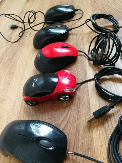 Mouses Usb E Ps2 Usados Funcionando Perfeitamente