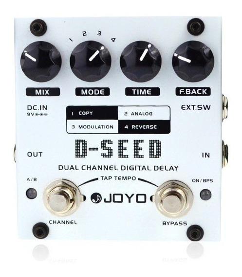 Pedal De Efeito Joyo D-seed Dual Channel Delay Para Guitarra