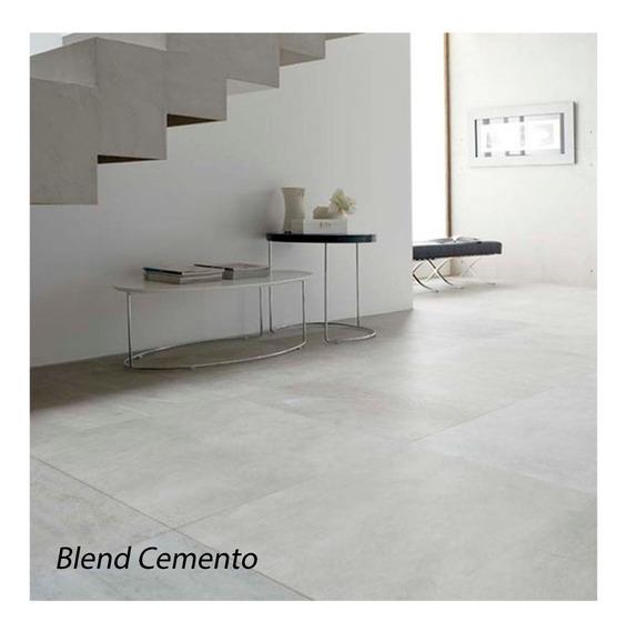 Porcelanatos De Piso Y Pared Cerro Negro Blend Simil Cemento Alisado 61x61 1ra