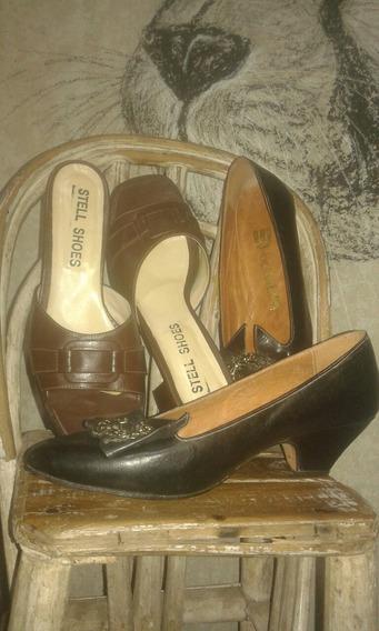 Zapatos Mujer Cuero Combo X 3 Pares (num 38,5 /39)