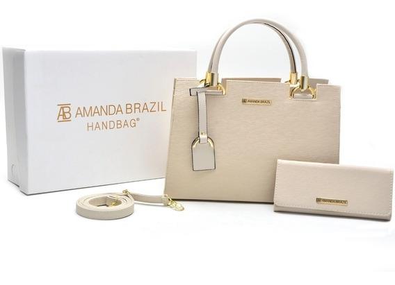 Bolsa Lorena Amanda Brazil Kit Com Carteira Alca Lateral