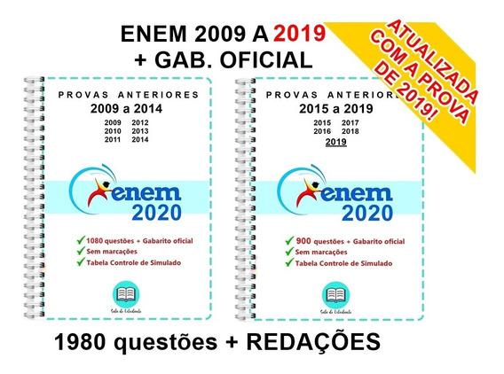 Kit Enem 2009 A 2019 (g0) + Unicamp 1 Fase 2005-2019 (gc)