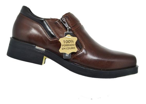 Sapato Social Ferracini Urban Way Masculino Couro - Marrom