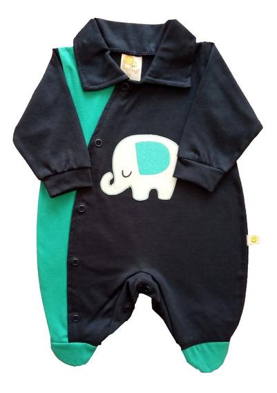 Macacão Bebê Prematuro Menino 100% Algodão