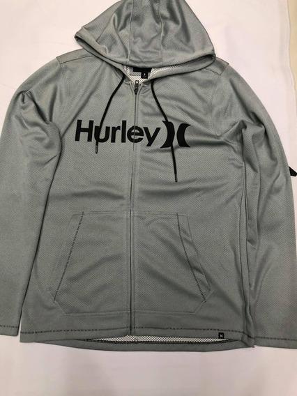 Chamarra Hurley Lake Street Gris Para Hombre 100% Original