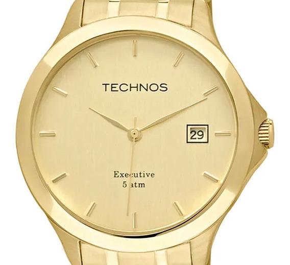 Relógio Technos Masculino Dourado Garantia Melhor Preço