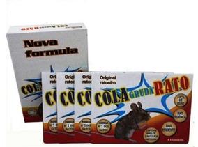 Kit C/ 4 Unidades Ratoeira Cola Pega Gruda Rato Frete Gratis