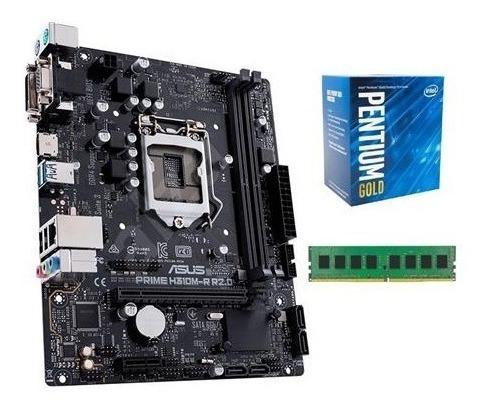 Combo Actualizacion Pc Intel Dual Core + Mother H310 + 4gb