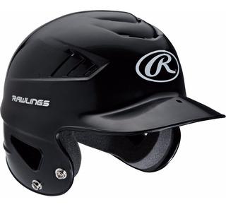 Casco De Beisbol Rawlings Doble Orejera Negro Nuevo