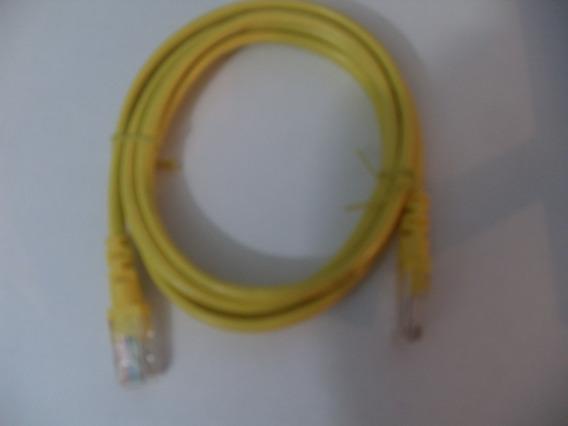 Cable De Red Rj45 Utp Cat 5e Internet Amarillo 1.5mts Nuevo