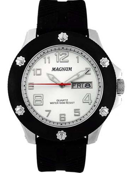 Relógio Masculino Magnum Analógico Ma33157q - Preto/prata