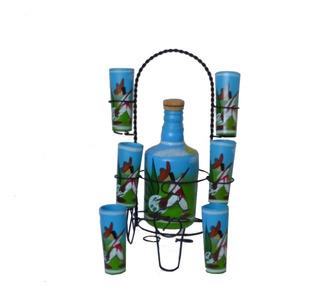 Soporte Para Botellas Licorera Artesanal Pintado A Mano