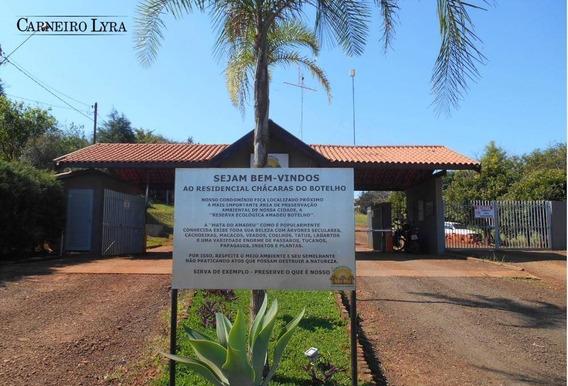 Terreno À Venda, 1000 M² Por R$ 100.000 - Residencial Chácara Botelho - Jaú/sp - Te0209