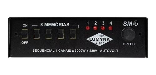 Sequencial Lumyna Light Sm 4 Rf 4 Canais 3000w