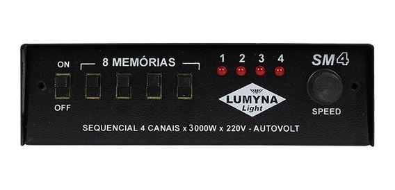 Sequencial Lumyna Light Sm 4 Rf 4 Canais 3000w