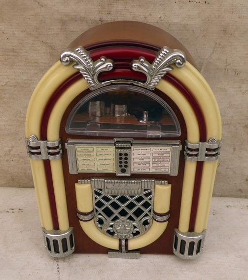Radio Estilo Jukebox A Pilha Am Fm / Funcionando