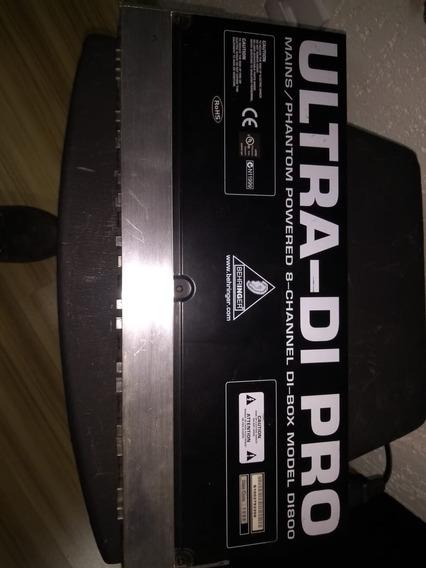 Direct Box Behringer Di800 Ultra Di-pro Padrão Rack Ac Troca