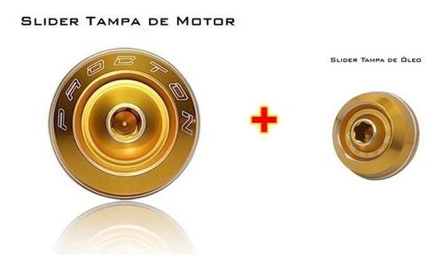 Slider Tampa Motor + Tampa Óleo Procton Xj6 Mt03 Mt07 R6 R3