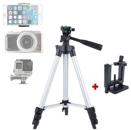 Tripé Suporte Para Celular E Câmera Digital De 1,02m 3 Ajustes De Alumínio Resistente Leve Com Nível E Haste Direcional