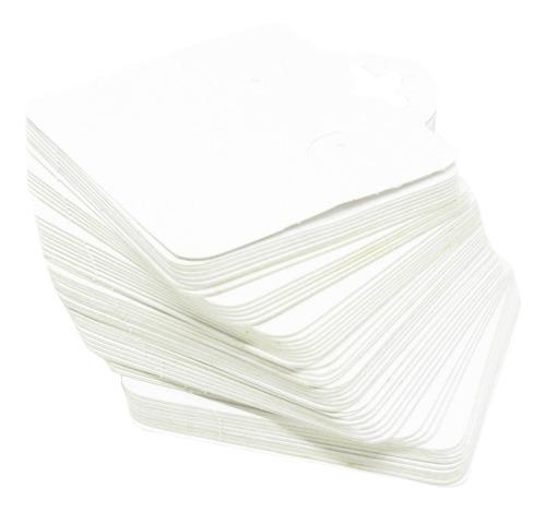 Cartela De Papel Branca Para Brinco E Bijuterias - 7 X 6 Cm