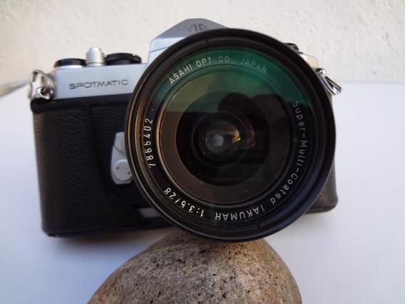Objetiva Takumar M42 28mm 3.5+spotmatic+adaptador Sonynex
