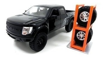 Miniatura 2011 Ford Raptor Preto Escala 1/24 Presentes