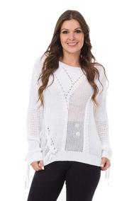 Roupas Femininas Blusa De Frio De Tricot Crochê Promoção