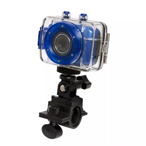 Câmera Filmadora De Ação Hd C/ Acess. Vivitar Azul Dvr785hd